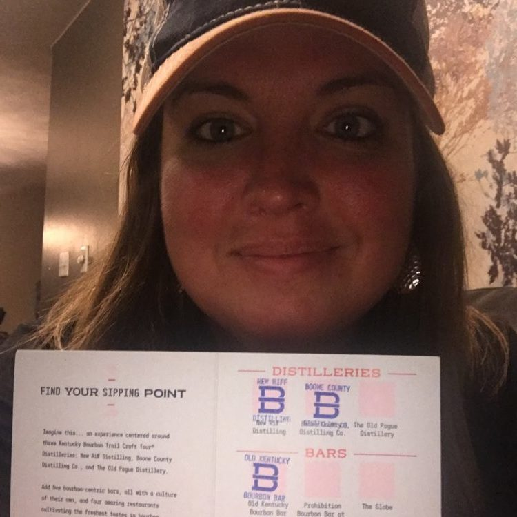 Sarah Lewis with completed B-Line passport