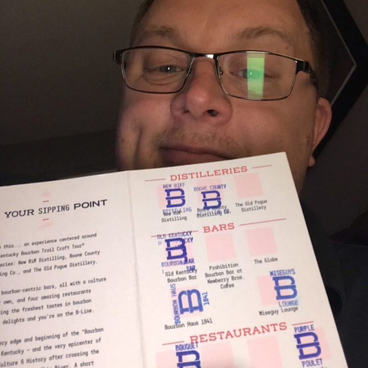 Brad Lewis with completed B-Line passport