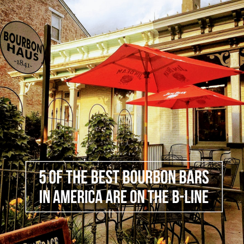 The patio of Bourbon Haus 1841 in Covington, KY