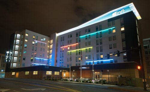 The Aloft hotel in Newport Kentucky