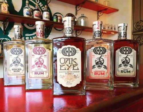 bottle of oak eye rum northern kentucky bourbon trail