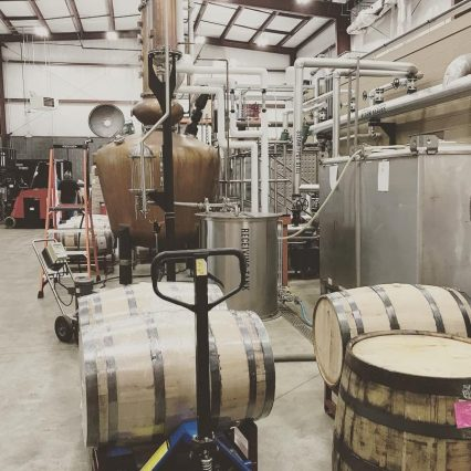 Bourbon distillation process happening at Boone County Distilling in Northern Kentucky